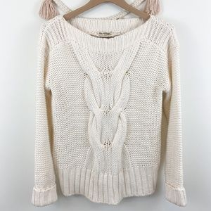 Miss Selfridge White Cable Knit Chunky Sweater 4
